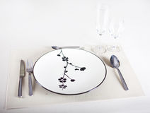 A dinner plate Royalty Free Stock Image