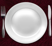 Dinner plate. Royalty Free Stock Image