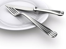 Dinner plate Royalty Free Stock Photo