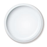 Dinner plate. Simple clean white porcelain dinner plate with shadow Royalty Free Stock Image