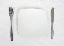 Dinner plate arrangement Stock Photography