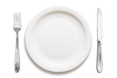 Dinner plate arrangement Royalty Free Stock Photos