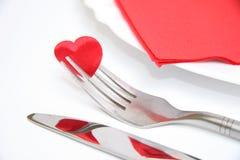 Dinner plate arrangement Stock Image