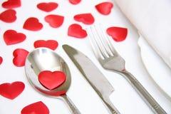 Dinner plate arrangement Stock Photography