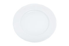 Dinner plate with clipping path Stock Photos