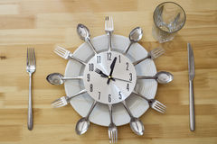Dinner Plate Clock Table Royalty Free Stock Image