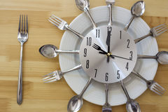 Dinner Plate Clock Table Royalty Free Stock Photo
