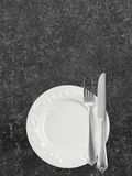 Dinner plate with copy space Royalty Free Stock Photography
