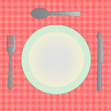 Dinner Plate Empty Stock Photo