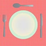 Dinner Plate Empty Stock Photo