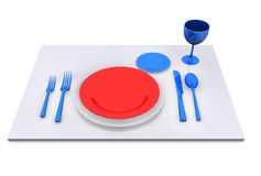 Dinner Plate, Knife, and Fork Royalty Free Stock Image