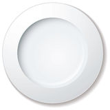 Dinner plate large rim Stock Photo