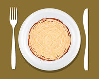 Dinner Plate Pasta Stock Photos