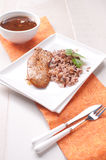 Dinner plate with polutry meat and rice Royalty Free Stock Photos