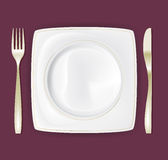 Dinner Plate Set 3 Royalty Free Stock Images