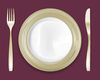 Dinner Plate Set 5 Royalty Free Stock Image