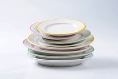 Dinner Plate Sets Royalty Free Stock Photos