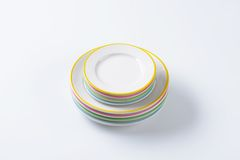 Dinner Plate Sets Stock Photo