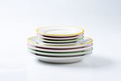 Dinner Plate Sets Stock Photography