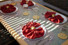 Dinner Plate Table Place Setting Stock Images