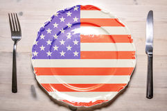 Dinner plate USA Stock Images