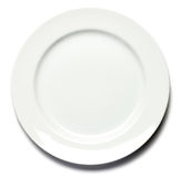 Dinner Plate on White. Background Royalty Free Stock Photos