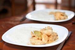 Dinner plates Stock Image