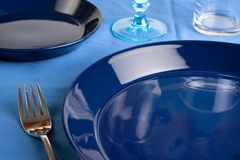 Dinner plates Royalty Free Stock Image