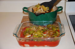 Dinner preparation for casserole Royalty Free Stock Photography