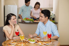 At the dinner Stock Photography