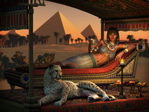 Dinner at the Pyramids, 3d CG Royalty Free Stock Photography