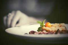 Dinner at restaurant Stock Photography
