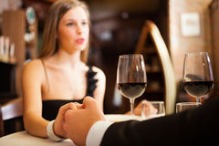 Dinner at the restaurant Stock Photography