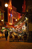 Dinner at restaurant in Brussels Royalty Free Stock Photos