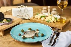 Dinner in restaurant Royalty Free Stock Images