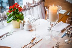 Dinner in the Restaurant royalty free stock photography