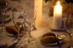 Dinner in a restaurant Royalty Free Stock Photo