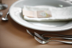 Dinner in a restaurant Royalty Free Stock Photography