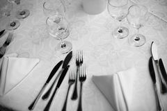 Dinner in a restaurant Stock Photography