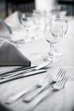 Dinner in a restaurant stock images