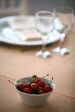 Dinner in a restaurant Stock Photo