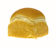 Dinner roll. A single dinner roll on a white background Royalty Free Stock Image