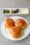 Dinner roll bread with butter Stock Photo