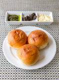 Dinner roll bread with butter Stock Image