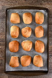 Dinner Rolls on Baking Sheet Stock Photo