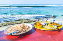 The dinner in romantic place Royalty Free Stock Images