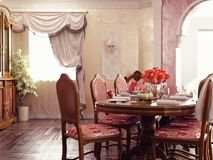 Dinner room interior Royalty Free Stock Photography