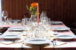 Dinner's table Royalty Free Stock Photos