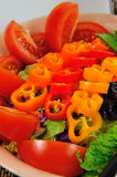 Dinner Salad. Lite salad with tomatoes and sweet peppers Stock Images