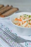 Dinner with the sauerkraut Stock Image